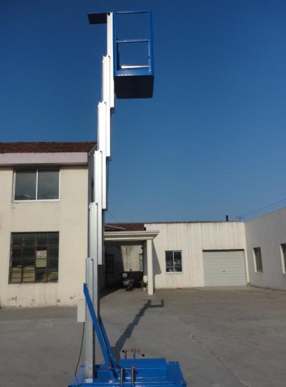 广州单桅柱铝合金升降机
